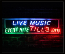 Live Music Every Nite Neon Sign